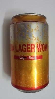 Vietnam LARGER WOW 330ml empty beer can - Opened at bottom