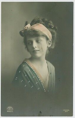 Glamour portrait postcards. Early 1900's.  K E Kiesel photo; 1911 Leicester