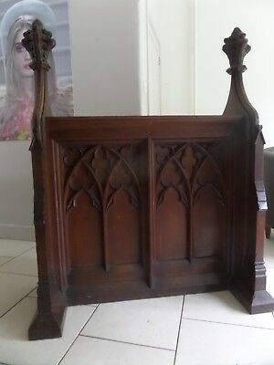 Antique Church Carved Oak Gothic Lectern Hall Table