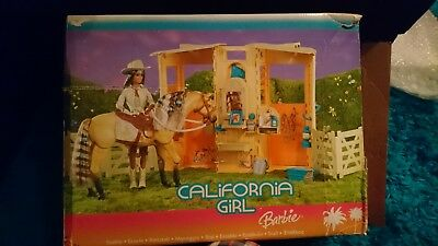 Vintage barbie horse stable and accessories
