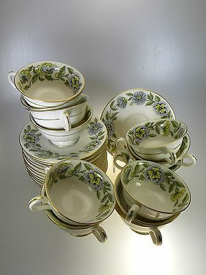 Castleton China Ravenna 14 Cups & 12 Saucers