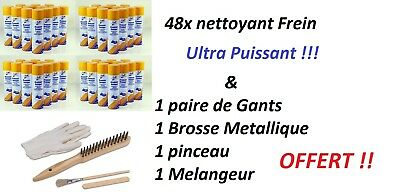 48x NETTOYANT FREIN 500ML ULTRA PUISSANT + pack nettoyage OFFERT