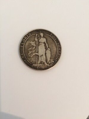 1902 One Florin Two Shillings Edward Vii