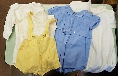 Antique Vintage Baby Rompers and Coat - Lot of 4
