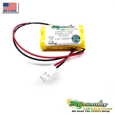 2.4v Battery For Dual-Lite AtLite Emergency Light 12-822 012-0822 12-822E Qty.1