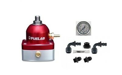 FUELAB EFI Fuel Pressure Regulator & DIY Universal AN Fittings Kit (RED)