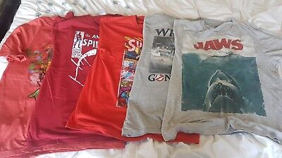 Bundle of mens t shirts M/medium film/comic Jaws,Ghostbusters,Marvel,Superman