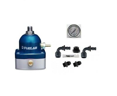 FUELAB EFI Fuel Pressure Regulator & Universal DIY AN Fittings Kit (BLUE)