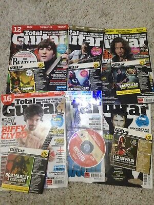 Total Guitar Magazines And Cds Bundle