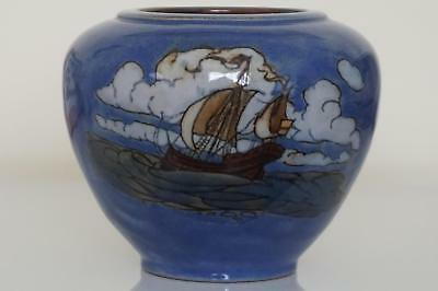 Royal Doulton Lambeth Galleon Vase  - Winnie Bowstead - c.1920