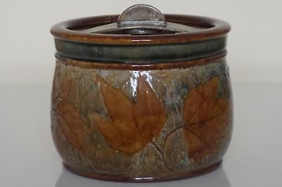 Royal Doulton Lambeth Tobacco Jar - Air Tight Lid - Foliage Ware - c.1925