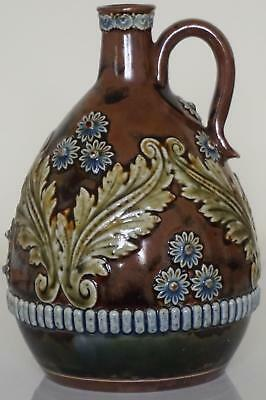 Doulton Lambeth Art Nouveau Whisky Or Spirit Flask Flagon - c.1900