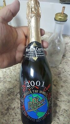 Unopened custom 2001 Dr. Pepper Champagne. Monterey Cristal. Limited edition