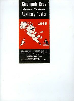 1965 Cincinnati Reds Baseball Media Guide EX+