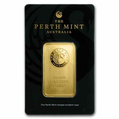 SPECIAL PRICE! 1 oz Gold Bar - Perth Mint (In Assay) - eBay - SKU #84706