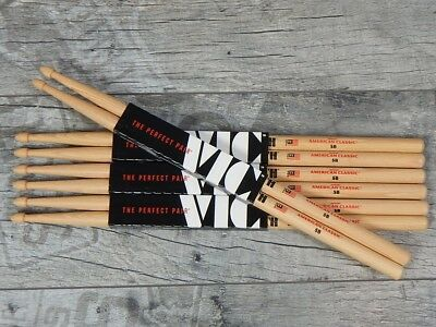 12 Paar Vic Firth 5B American Classic USA Hickory Drumsticks  *ANGEBOT*