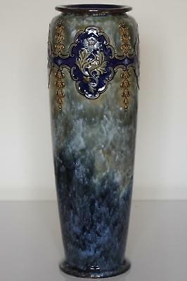 Royal Doulton Lambeth Floral Vase - Art Nouveau - Bessie Newberry - c.1905