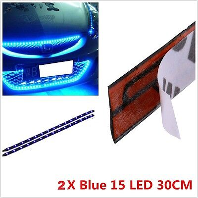 BLUE  LED FOOTWELL/INTERIOR STRIP LIGHTING 2x30CM STRIPS
