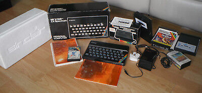 Sinclair ZX Spectrum + Turbo Joystick Interface + Games, Power Pack, Manuals