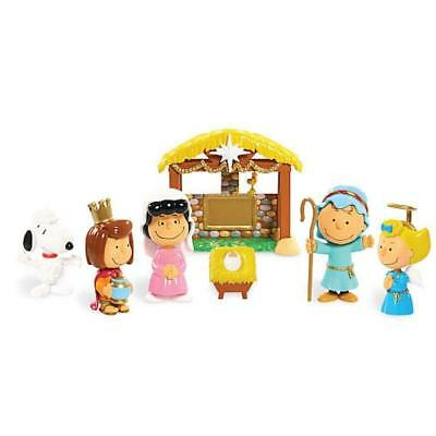 Peanuts Christmas Nativity Deluxe Figure Set NEW Snoopy