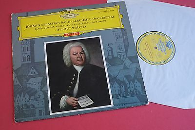 SLPM 138958 Bach Famous Organ Works Helmut Walcha DGG RED STEREO LARGE TULIP 64