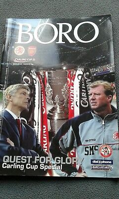 middlesbrough v arsenal carling cup semi 2004