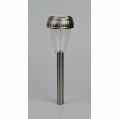 10 x LED SOLAR POWERED STAINLESS STEEL GARDEN PATIO DRIVEWAY POST STAKE LIGHT