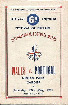 WALES v PORTUGAL  1951  Festival Of Britain Match