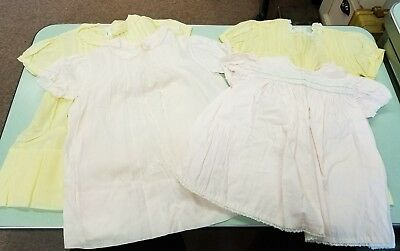 Antique Vintage Baby Dresses - Hand made - Lot of 4
