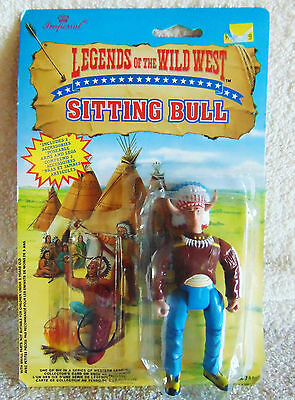 "SITTING BULL Legends of the Wild West - 4"" Action Figure - 1991 - New"