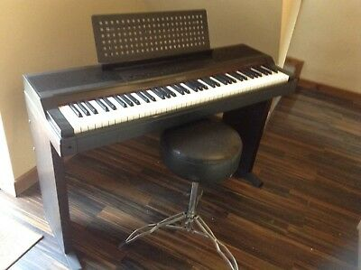 Roland Electric Piano Hp-600 Gwo With Stool, Sustain Pedal Etc