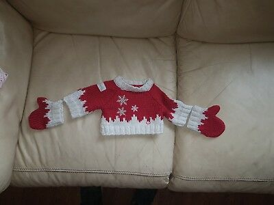 build a bear harrods Christmas jumper and mittons
