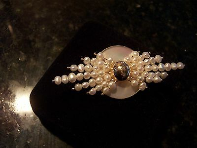 Donna Chambers  14K Pin Or Brooch    Mop   Usa   Style Bgp245
