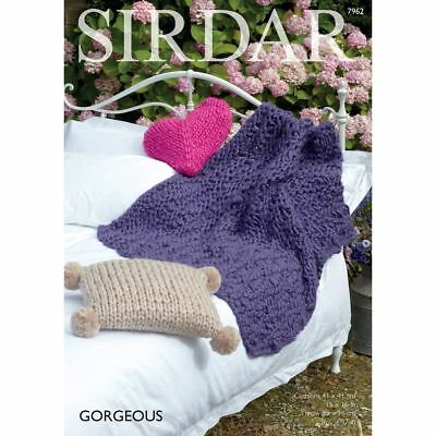 Sirdar Gorgeous Cushions And Blanket Knitting Pattern 7962 Leaflet Craft