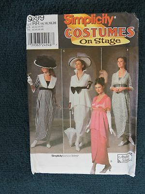 Sewing Pattern:simplicity 9699 Costume On Stage. Edwardian. Titanic. Women 14-20