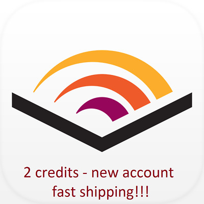 audible.com USA account (new) with 2 credits  ----> FAST SHIPPING!
