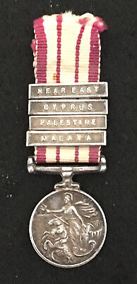 Miniature EIIR Naval General Service Medal with 4 Clasps