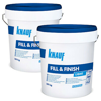 2 x KNAUF Sheetrock Fill & Finish Light 20kg Füllmasse Spachtelmasse Spchatel