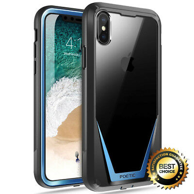 For iPhone X iPhone Xs Full-Body Rugged Heavy Duty Case Poetic Guardian Cover BU