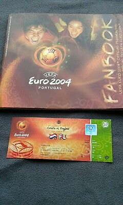 euro 2004 programme and ticket
