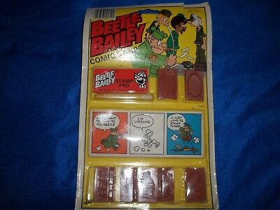 New Beetle Bailey Comic Strip Stamps 1981 King Features Syndicate