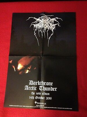 Dark Throne Arctic Thunder Rare In Stall  Promo Poster Free Postage Death Metal