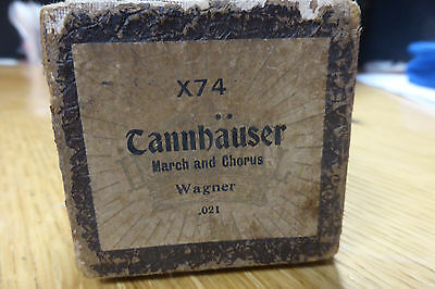 """Vintage Pianola Roll - X74 """"Cannbauser - March & Chorus"""" Wagner"""