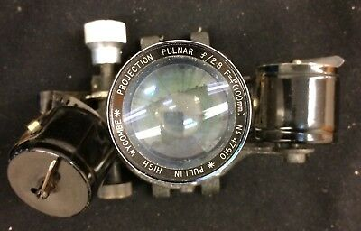 Early Projector Lens & Film Assembly f/2.8 100mm by Pullin of High Wycombe UK