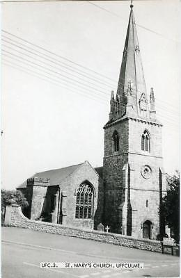Real Photographic Postcard Of St Mary's Church, Uffculme, (Near Tiverton), Devon
