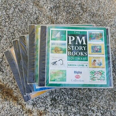 PM Story Books Rigby Collection Software Blue Green Yellow Level A B lot of 7