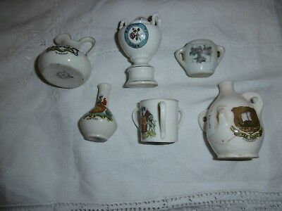 Collection of antique crested ware