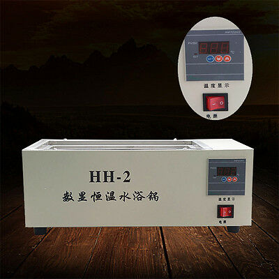 220V Digital Lab Thermostatic Two Double Holes Electric Heating Water Bath Pop