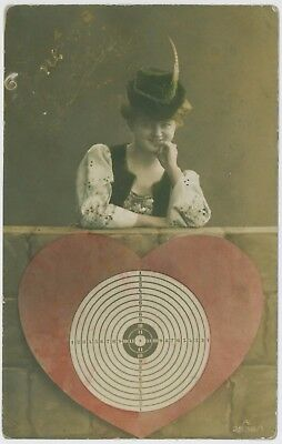 Pretty young lady / girl postcard, 1910 Seaton Delaval postmark