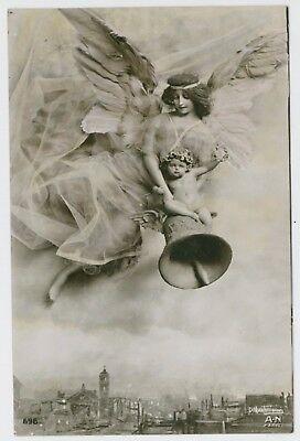 Angel / Lady & child; early 1900's